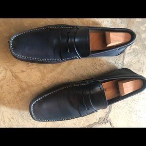 Salvatore Ferragamo blue loafers